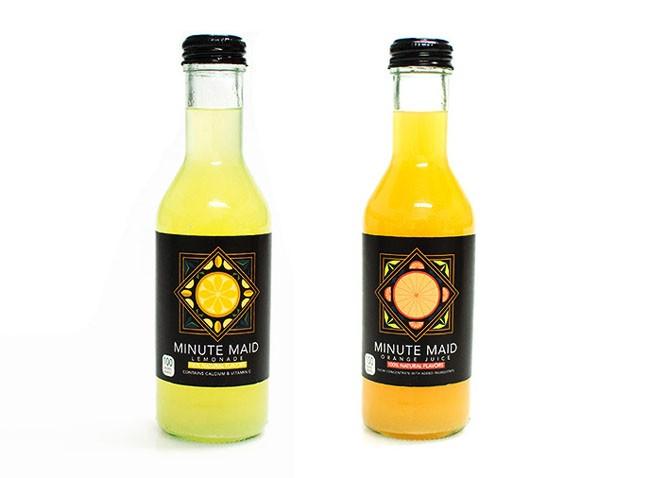 Minute Maid果汁饮料装饰画欧美风格包装设计