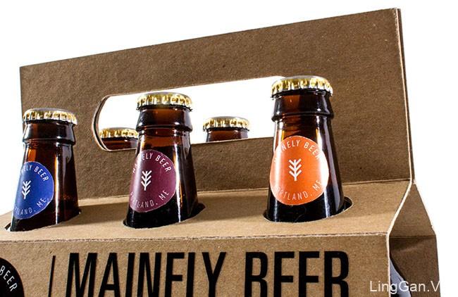 国外Mainely啤酒套装包装设计鉴赏