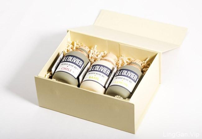 国外风味不同的A L''Olivier橄榄油包装设计