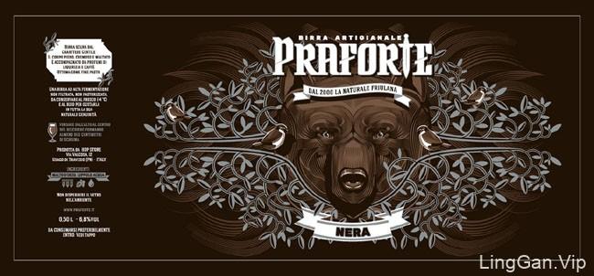 国外Praforte啤酒系列经典包装设计欣赏