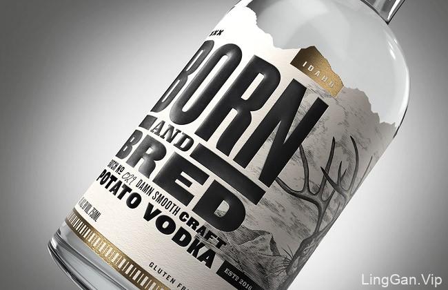 美国Born & Bred伏特加包装设计鉴赏