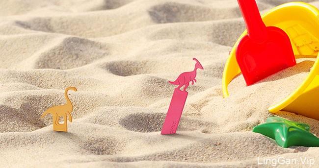 国外Dino Ice恐龙冰棒雪糕创意包装设计