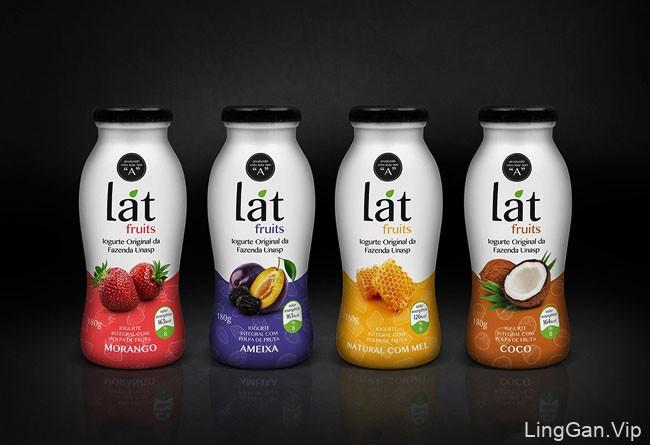 国外漂亮的Lat Fruits水果酸奶系列包装创意