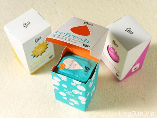 不同颜色风格的国外女性化的ETOS茶包装