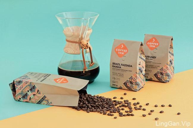 国外简美的COFFEE INN咖啡包装设计