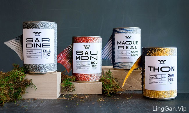 国外Marine鱼罐头包装创意包装设计鉴赏