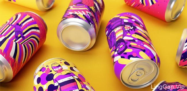 年轻时尚的国外Resonance饮料包装设计欣赏