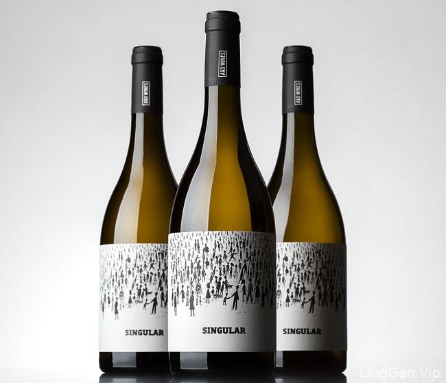 国外Singular葡萄酒创意瓶贴设计作品