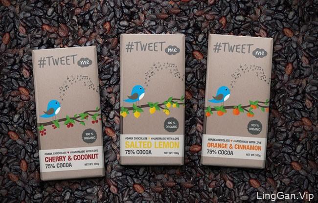 国外Tweet Me巧克力设计包装