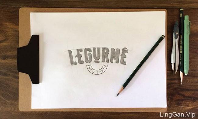 国外简洁大方的Legurme蔬菜酱多种颜色包装设计鉴赏
