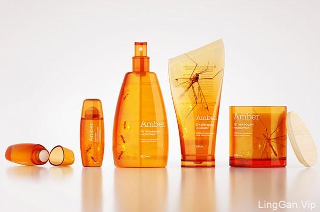 国外Amber驱蚊剂创意设计包装欣赏