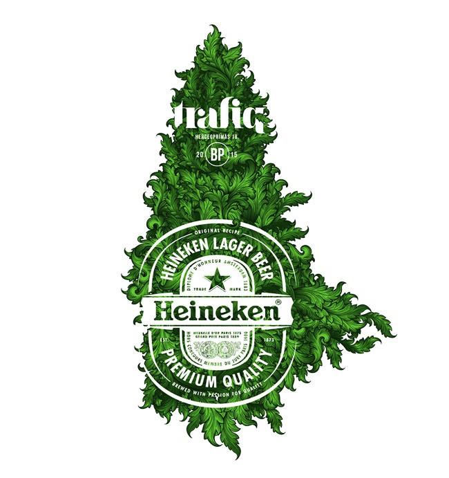 国外喜力啤酒2015年限量版包装设计欣赏