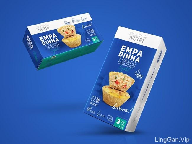 国外Doctor Nutri速冻食品系列4种颜色风格包装设计