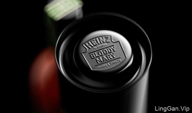 国外精致的亨氏番茄伏特加包装设计