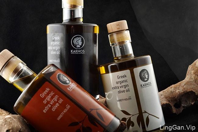 国外精致的KARNOS橄榄油外包装设计