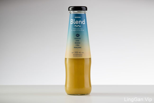 国外Blend果蔬饮料系列包装设计欣赏