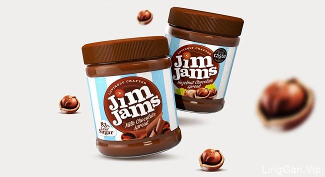 国外Jim Jams健康果酱全新包装设计鉴赏