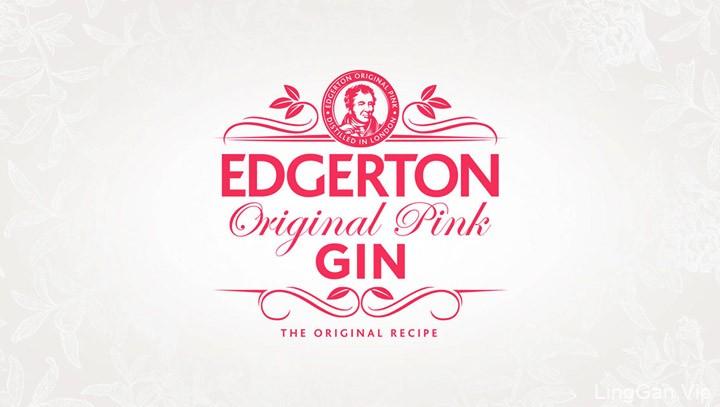 国外Edgerton粉红色杜松子酒包装设计鉴赏
