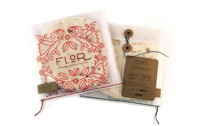 国外精致的Flor玉米饼包装设计鉴赏