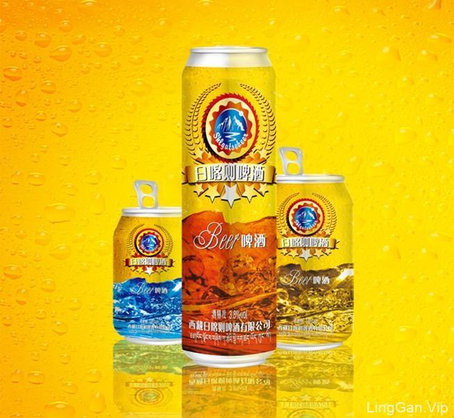 日喀则啤酒饮料包装设计欣赏-夏日清爽风格