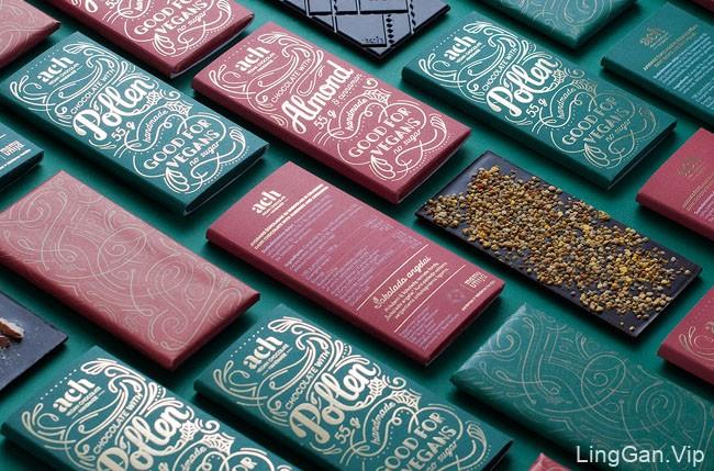 国外包装设计之ACH纯素巧克力包装