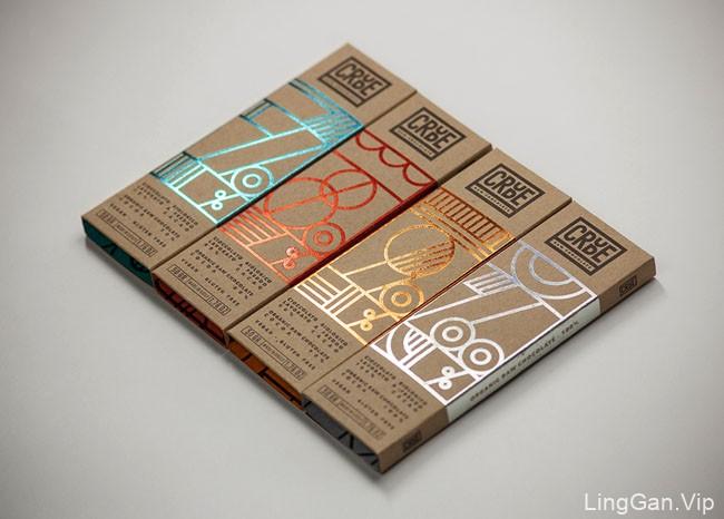 国外包装设计CRUDE原味巧克力
