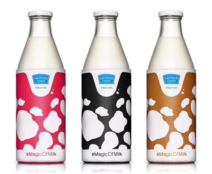 国外包装设计Mother Dairy鲜牛奶创意包装欣赏