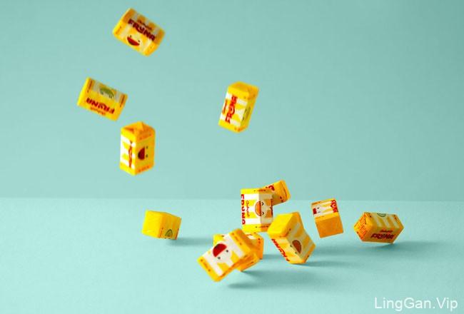 国外包装设计五彩缤纷的Fruna糖果包装