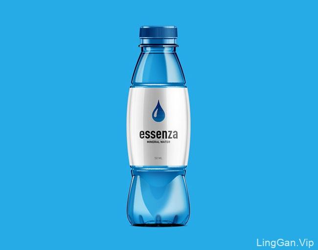 国外包装设计简约风格的essenza纯净水包装欣赏