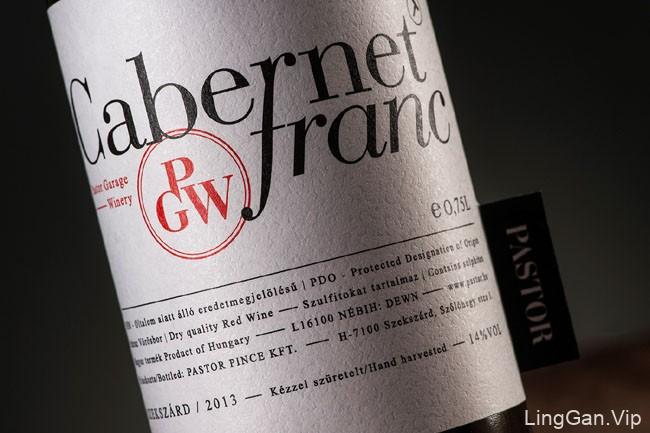 国外酒水包装设计Pastor winery''s葡萄酒标签