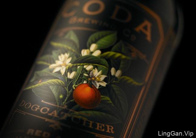 国外包装设计金色品质的Coda啤酒包装欣赏