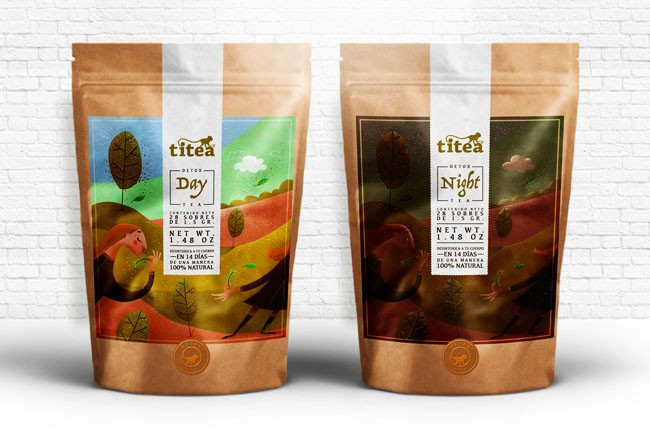 国外包装设计-漂亮的TITEA排毒茶包装分享
