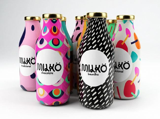国外包装设计之多彩的Milko牛奶包装分享