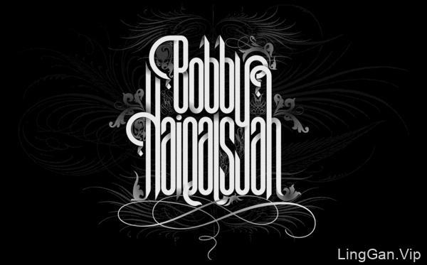 国外字体设计之BobbyHaiqalsyah时尚字体设计欣赏