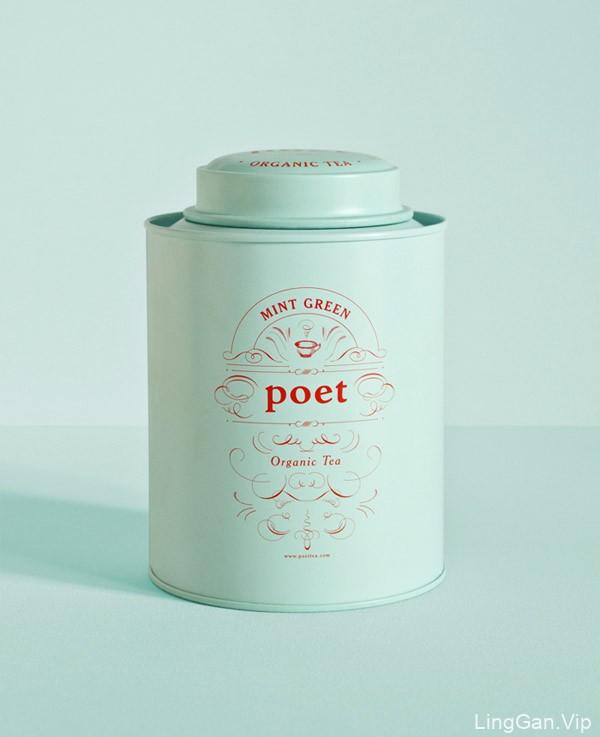 国外包装设计之Poet tea有机茶罐装包装欣赏