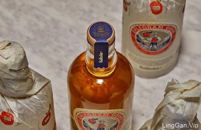 国外Balholm苹果酒复古风格包装设计