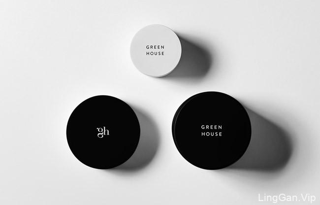 清新的Green House美容护肤品包装设计