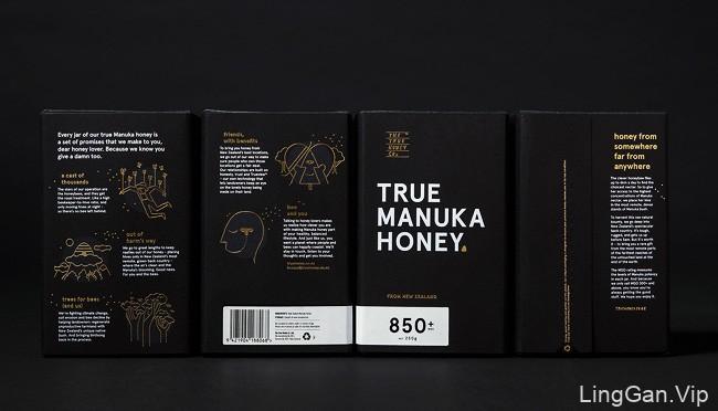 国外The True Honey蜂蜜创意包装设计