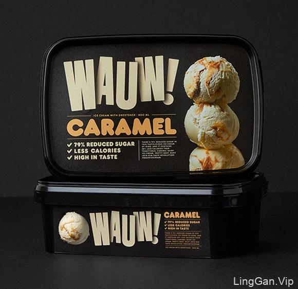 国外漂亮的Wauw冰淇淋包装设计