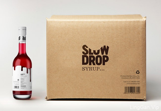 国外靓丽的SLOW DROP鸡尾酒糖浆包装设计