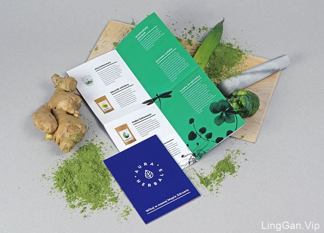 国外Aura Herbals健康天然食材品牌包装设计