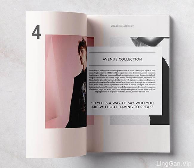 一本适合时尚服装行业的画册模版设计
