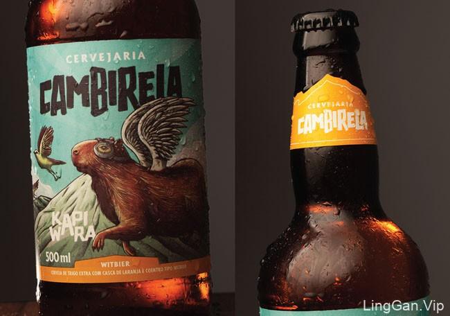 巴西Cambirela啤酒标签设计
