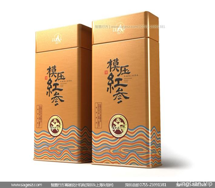 人参木盒包装设计 人参铁盒包装设计 人参亚克力包装设计
