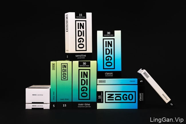 国外INDIGO安全套系列时尚包装设计