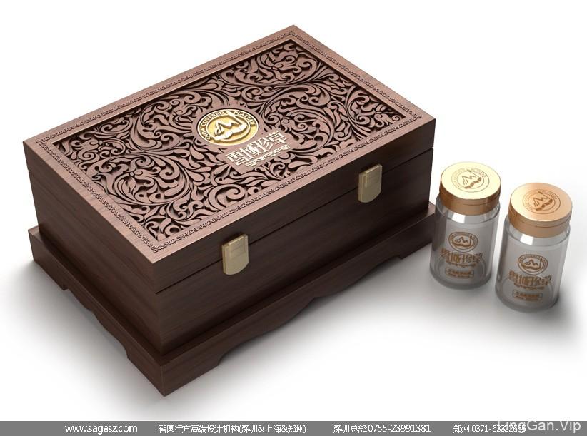 虫草精装木盒包装设计 虫草高档木盒包装设计 冬虫夏草包装设计