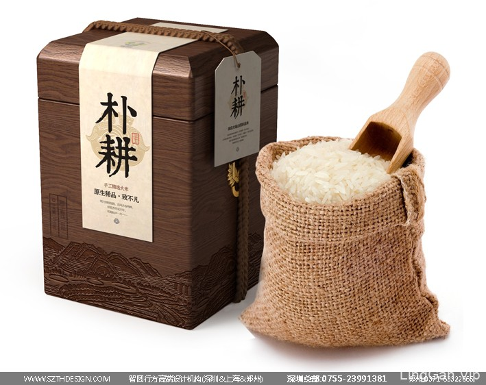 高端大米包装设计 有机大米包装设计 大米包装设计公司