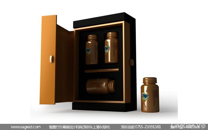 胶囊药品包装设计 医药保健品包装设计 黄金免疫包装设计