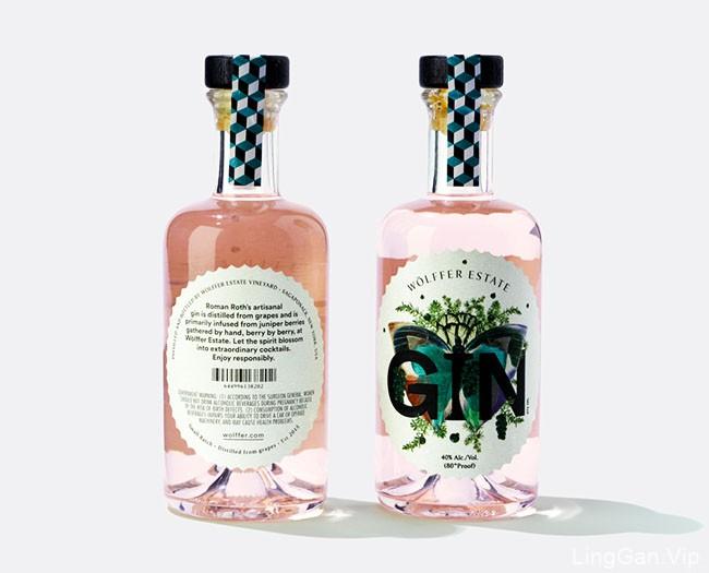国外漂亮的Wolffer杜松子酒包装设计