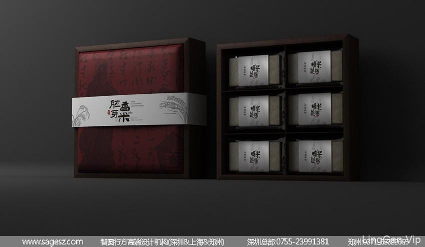 大米木盒包装设计 高端大米木盒包装 大米包装设计公司
